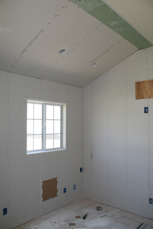 Dry wall is up!